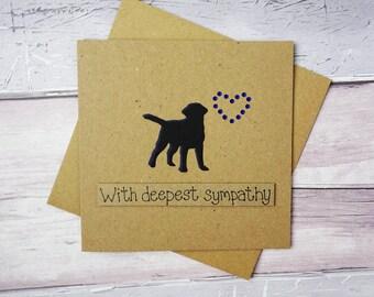 Dog sympathy card: thinking of you card, Handmade loss of a Labrador card, Dog condolences card, Death of a pet card, With sympathy dog card