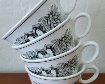 Franciscan, Whitestone Ware, Bird 'N Hand, Cup/Mug, Franciscan Cups, Franciscan Mugs.