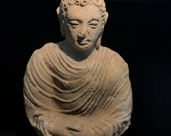 gandhara buddha stucco