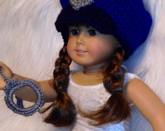 POLICEMAN Hat and Handcuffs Baby - AG Doll Clothes - Reborn Doll Costume- Made to Order -  Fits Newborn Baby
