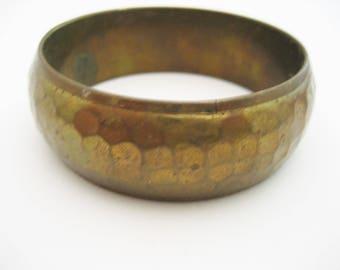 Hammered Brass Bangle Vintage Brass Bangle Bracelet India Brass Bangle Vintage Hammered Bangle Hammered Brass Bracelet