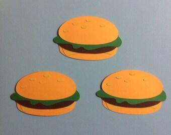 Cheeseburger Paper Piecing