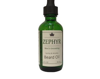 Southern Woods Beard Oil - Earthy & Woodsy Natural Smell - 2 Oz by Zephyr Men's Grooming