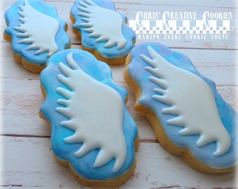 Angel wings, Fairy wings, one dozen (12) sparkly cookies!