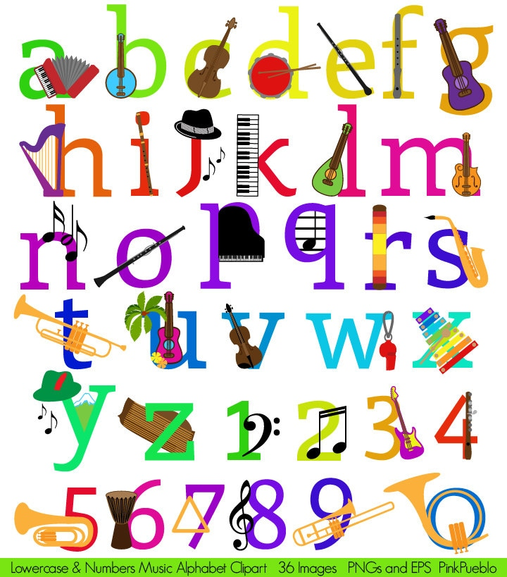 A Musical Instrument With  Letters