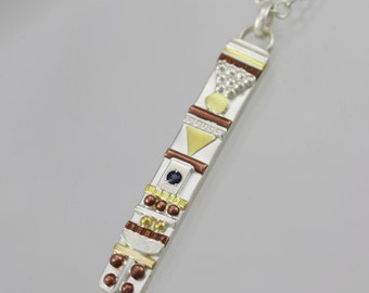 """Totem Necklace with Stone(Sapphire) (18"""")"""