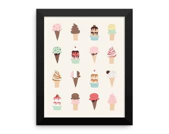 I Heart Ice Cream Framed Poster
