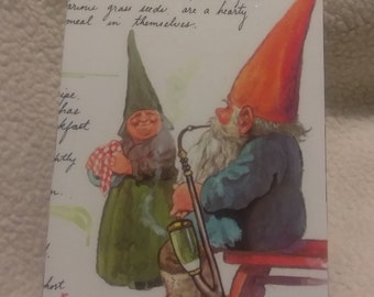 Hinged Box featuring Gnome with Pipe