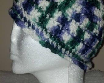 Crocheted Variegated Beanie