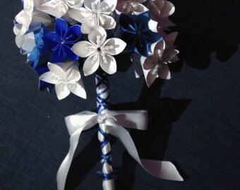 Wedding Bouquet blue & white