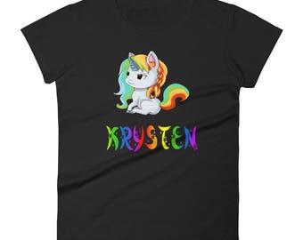 Krysten Unicorn Ladies T-Shirt
