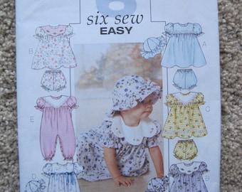 UNCUT Infants Dress, Panties, Jumpsuit and Hat - Size Small to XL - Butterick Pattern B4110