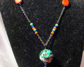Colorful Planet Necklace