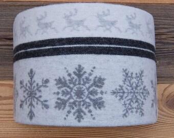 LAMPSHADE 63 wool gray snowflakes