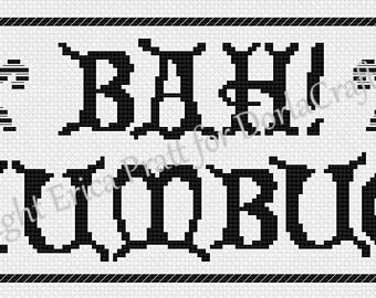 Bah! Humbug! Cross Stitch Pattern PDF Download