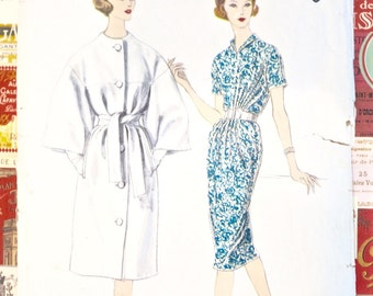 Vintage 1960's Gres Dress and Coat Pattern - Vogue 1483
