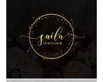 Pre-made Logo Design, Gold Logo Design, Logo Branding, Modern Logo, Watermark Logo, Photography Logo, Elegant Logo, Beauty Logo Gold glitter