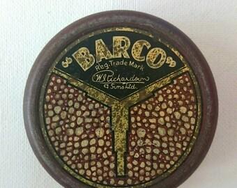 Vintage Barco tape recorder tin | vintage tin | tape recorder tin | Barco tin UK