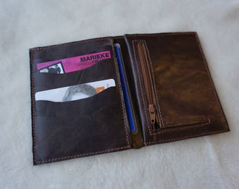 leather wallet. Brown wallet; Unisex leather wallet. portfolio