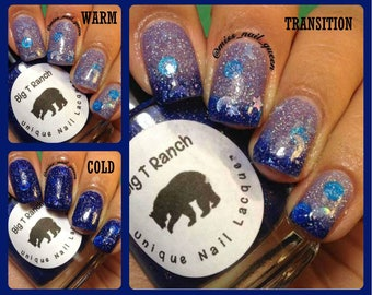 """Color Changing Thermal Nail Polish - """"Starry Night"""" - FREE U.S. SHIPPING - Custom Blended Polish/Lacquer - 0.5 oz Full Sized Bottle"""