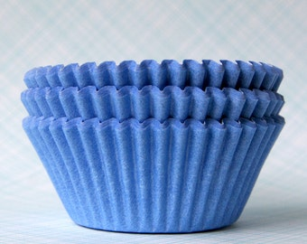 Light Blue Cupcake Liners / Baking Cups - Bulk (100) - Baby Shower, Birthday Party, Wedding Cupcakes