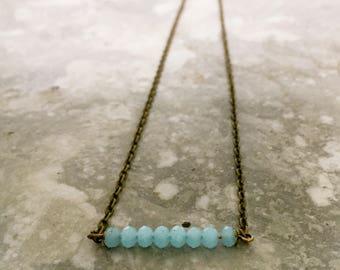 Powder Blue Minimalist Necklace