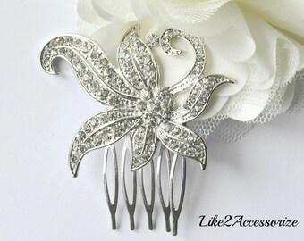 Bridal Comb, Rhinestone Comb, Crystal Bridal Comb, Wedding Crystal Hair Comb, Hair Comb, Wedding Comb, Bridal Headpiece, Bridal Pearl Comb