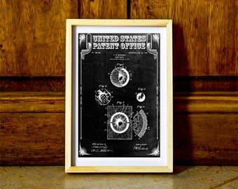 Golf Ball Patent, Patent Prints, Golf Art, Golfer Gift, Golfing Print, Golf Players, Vintage Golf, Gift for Golfer, Golf Ball