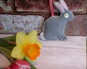 Felt bunny decoration, Easter bunny decoration, baby's first Easter, nursery decoration, bunny decoration, bunny décor