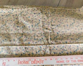 Destash- Rust Colored Vine Quilter's Cotton Fabric Remnant (A-013)