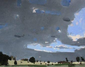 Petit écart Original printemps de paysage peinture sur papier, Stooshinoff