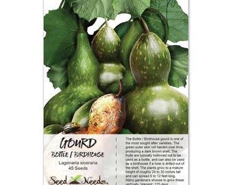 Gourd Seeds, Birdhouse / Bottle (Lagenaria siceraria) Non-GMO Seeds by Seed Needs