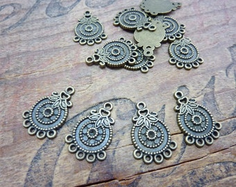 Antiqued Brass Chandelier Earring Finding (4) P27