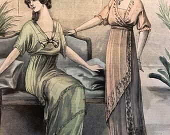 1910's French Fashion Magazine Newspaper  Le Petit Echo de la Mode May 4 1913