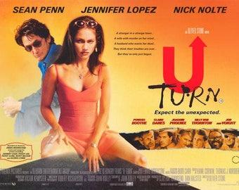 U-Turn (1997) movie poster 11 x 17 Oliver Stone neo-noir Sean Penn Jennifer Lopez Nick Nolte Arizona Claire Danes Billy Bob Thornton