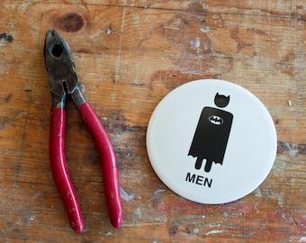 Batman toilet sign