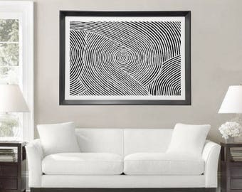 Original Abstract Painting Large Wall Art Abstract Art Black and White Abstract, Geometric Painting Australian Art Line Art Contemporary Art