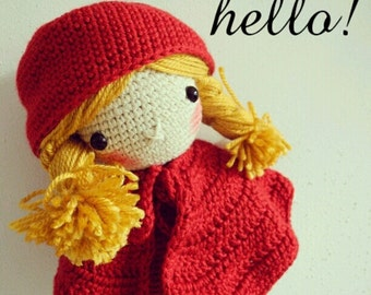 Crochet Doll - Red Riding Hood