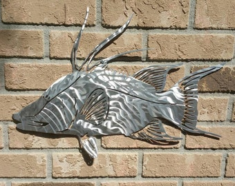 Hogfish in aluminum, Plasma Cut, Hand Shaped