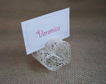 Wedding Table Decor, Wedding Place Card Holder, Wedding Number Holders, Placecard Holder, Set of 50