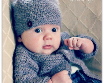 Download Now - CROCHET PATTERN Classic Crocheted Hat - Baby to Adult - Pattern PDF