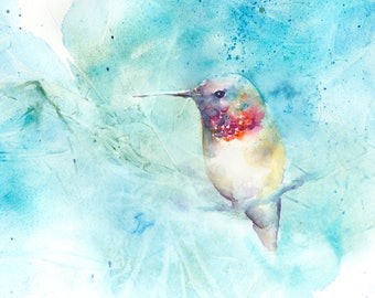 Hummingbird art: hummingbird painting hummingbird print bird watercolor art wall decor bird lover gift bird art nursery decor mother's day