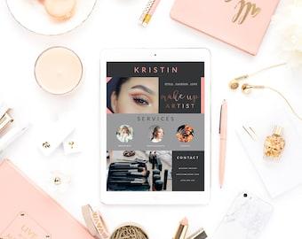 Facebook Cover photo | make up Facebook Cover | make up artist  | Blog Header | Website Header | rosegold banner |rose gold cover photo