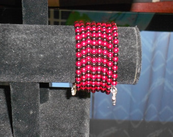 Memory bracelet red and black