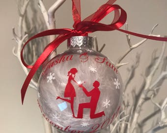 Engagement Christmas Bauble