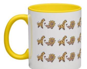 Lion & Giraffe Coffee Mug