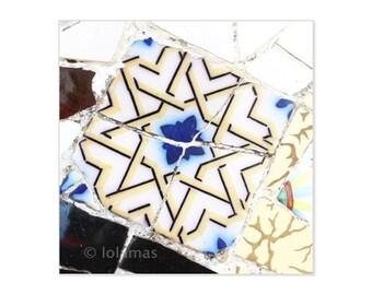Geometry wall art, abstract wall art, art print decor, Gaudi park, Barcelona print, Mosaic Wall Decor, Fine Art photography