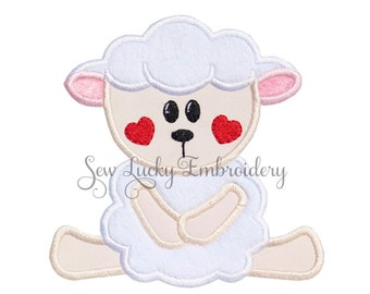 Lamb patch - Lamb applique - Baby lamb patch - Baby lamb applique - Iron on patch - Applique - Embroidered patch - Patch - Sew on patch