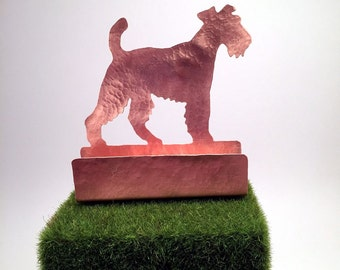Terrier Business Card Holder, Desk Accessory, gifts for dog lover,  Terrier items, Airedale Terrier Lakeland Terrier Wire Hair Fox Terrier