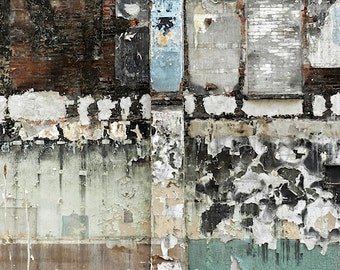 Industrial Rustic Fine Art Print, Large Abstract Art, Urban Decay,Industrial Art,Black Aqua Abstract Print,Textured Art,Abstract Photography